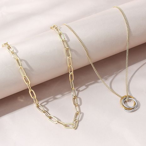 Korean fashion all-match creative personality necklace set NHPS280340's discount tags