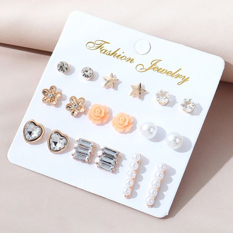 Korean  creative  all-match earring set NHPS280360's discount tags