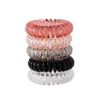 Anillo de pelo de cable de teléfono de color transparente NHPJ280364