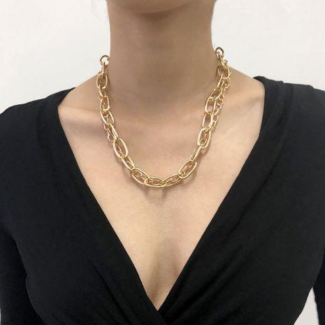 collar de cadena gruesa exagerada NHMD280378's discount tags