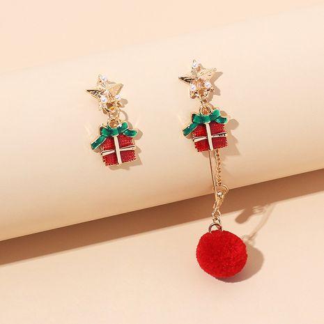 Fashion retro tassel hair ball Christmas earrings NHRN280396's discount tags