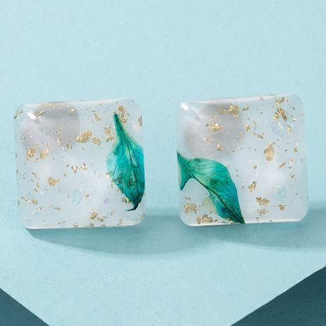 boucles d'oreilles en acrylique carrées simples à fleurs NHGY280717's discount tags
