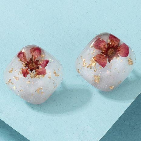 Boucles d'oreilles de la série de fleurs séchées imitation acrylique carré géométrique simple NHGY280716's discount tags