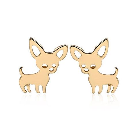 cat  puppy alloy plating gold  silver rose elk deer earrings NHMO280413's discount tags