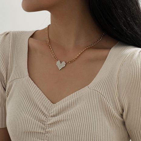 collar colgante de corazón de diamantes de borla de moda NHXR280451's discount tags