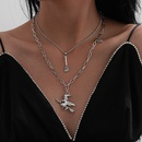 retro multilayer tassel alloy necklace set NHXR280456