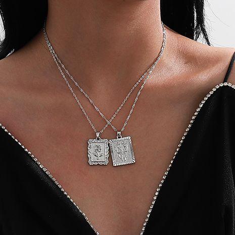 conjunto de collar de mariposa de aleación rosa NHXR280465's discount tags