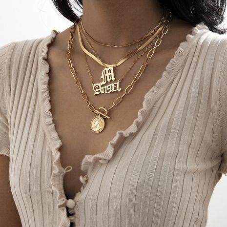 collar con letra de moda de hueso de serpiente en relieve NHXR280466's discount tags