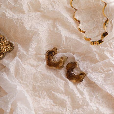 Boucles d'oreilles fleurs en acrylique doux NHMS280488's discount tags