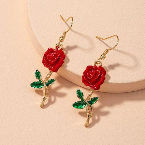 Pendientes de flores rosas étnicas retro coreanas NHAI280530's discount tags