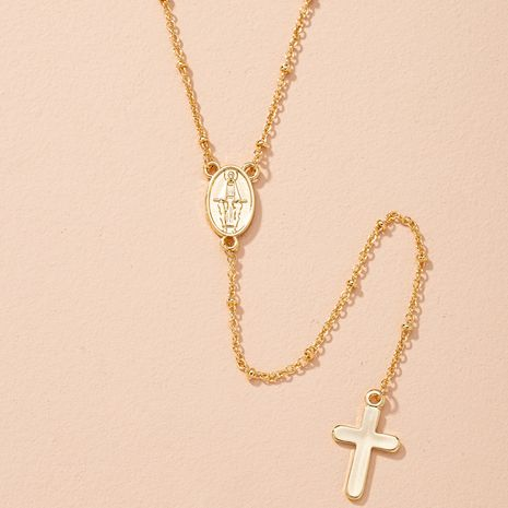 coin cross pendant long necklace  NHAI280539's discount tags
