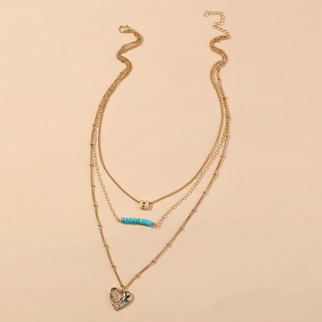 Collar de concha de abulón de amor de moda coreana NHAN280091's discount tags