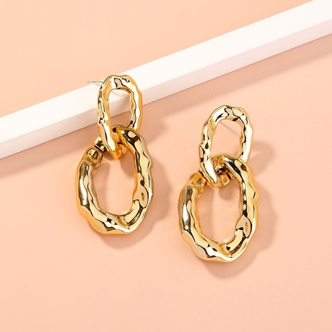 S925 silver needle irregular circle hypoallergenic earrings NHAN289573's discount tags