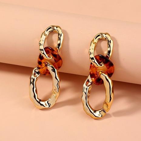 new  leopard gold geometric  earrings  NHAN289574's discount tags
