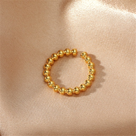 simple golden beaded ring NHIQ289596's discount tags