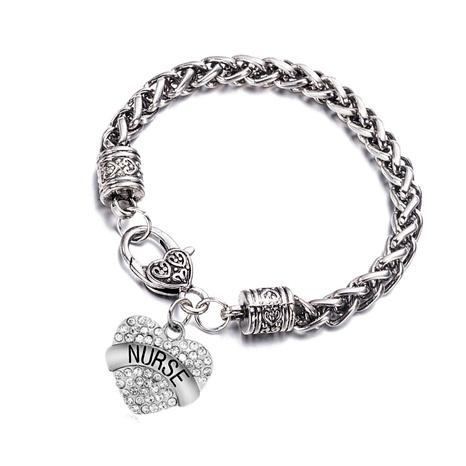 alloy diamond letter bracelet  NHOA289658's discount tags