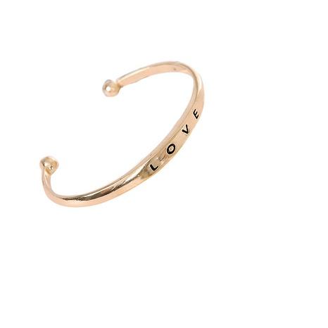 simple alloy letter love bracelet NHOA289664's discount tags
