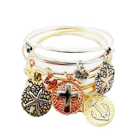 starfish cross anchor opening bracelet NHOA289663's discount tags
