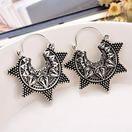 five-pointed star hook exaggerated earrings  NHDM289717's discount tags