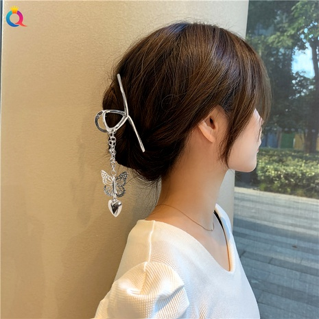 butterfly pendant alloy hair catch clip NHDM289722's discount tags