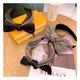 Korean  polka dot contrast color plaid knotted  headband NHHD289783