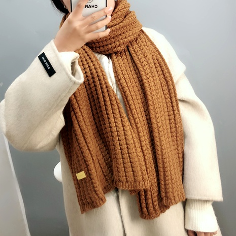 twist wool pure color scarf  NHFS289867's discount tags