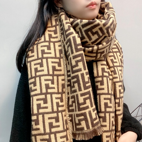 letter jacquard cashmere scarf  NHFS289871's discount tags