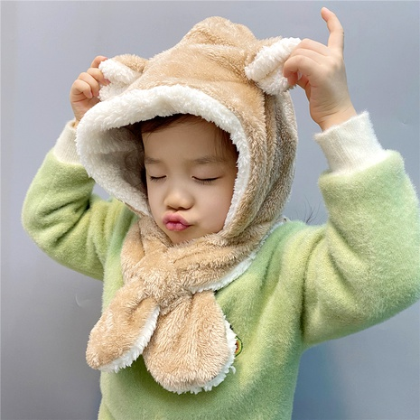 children cute ear cap scarf  NHFS289875's discount tags