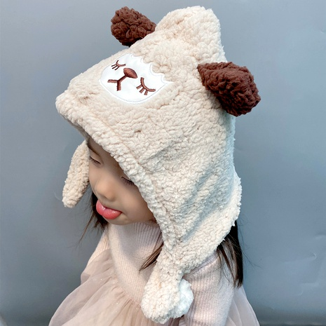 plush cute baby hat scarf 2-piece set NHFS289878's discount tags