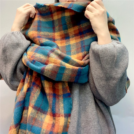 plaid cashmere scarf  NHFS289881's discount tags
