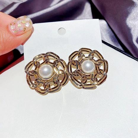 Mode Perlen Metall runde Ohrringe NHCG289930's discount tags