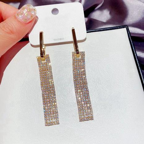 fashion zircon tassel full diamond long earrings  NHCG289942's discount tags