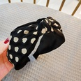 NHUX1305016-Black-polka-dot-double-color-matching-headband