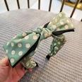 NHUX1305093-Bean-green-polka-dot-double-big-bow-hair-band