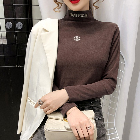 thickened half high collar bottoming shirt  NHEK290139's discount tags