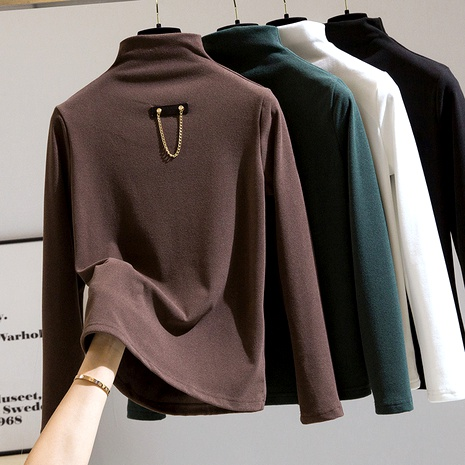 thickened half high neck bottoming shirt  NHEK290140's discount tags