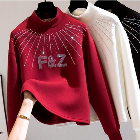 cotton half-high collar diamond sweater  NHEK290138's discount tags