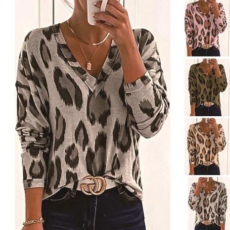 fashion leopard print T-shirt NHIS290163's discount tags