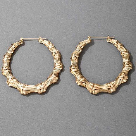 hot-selling bamboo exaggerated alloy fashion  earrings  NHGY290395's discount tags