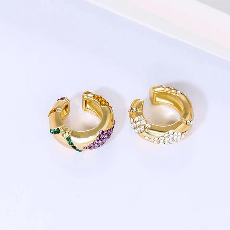 colorful micro-inlaid ear bone clip  NHLL290011's discount tags