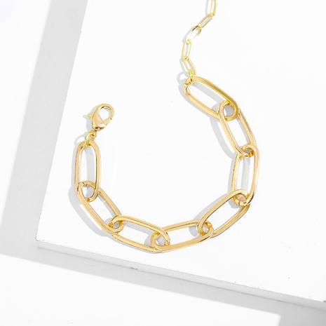 Cuban chain fashion thick chain bracelet NHLL290018's discount tags