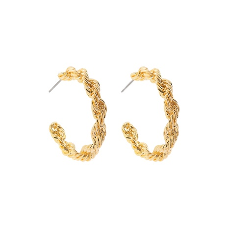 metal c-shaped earrings NHLL290016's discount tags