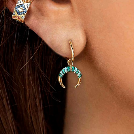 asymmetric colorful striped earrings  NHLL290029's discount tags