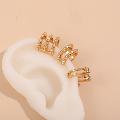 irregular twisted diamond C-shaped ear clip set  NHLL290036's discount tags