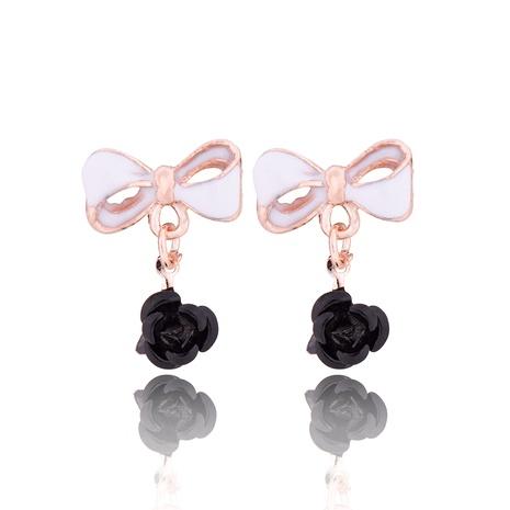 fashion bowknot flower earrings  NHPF290047's discount tags