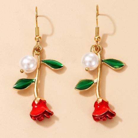pendientes retro de perlas rosas NHGY290056's discount tags