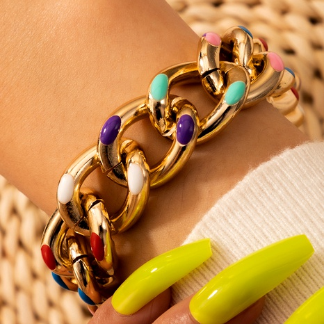 dripping oil gold bracelet  NHGY290062's discount tags