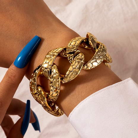 new exaggerated retro snake pattern single layer bracelet NHGY290064's discount tags