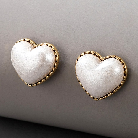 heart-shaped pearl earrings NHGY290065's discount tags
