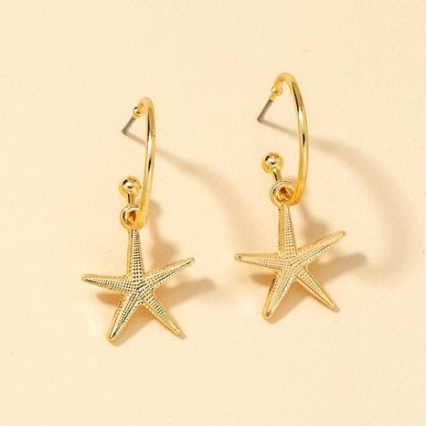 Fashion Metal Starfish Earrings  NHGU290097's discount tags